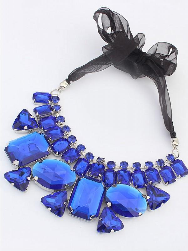 Occident Trendy Major suit Gemstone Ribbons Hot Sale Halskette