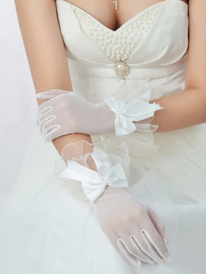 Best Tüll Schleifen Wedding Gloves
