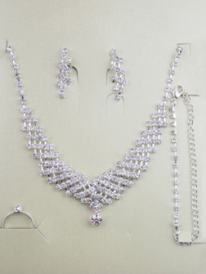Gorgeous Alloy With Strasssteines Wedding Bridal Juwel-Ausschnittry Set