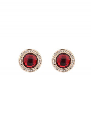 Occident Exquisite Fashionable Round Gemstone Stud Hot Sale Ohrringe