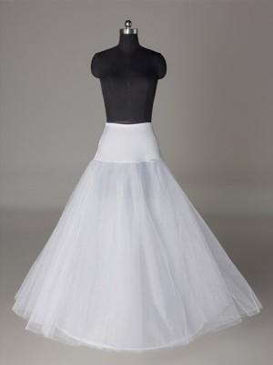 Tüll Netzting A-Linie/Princess-Linie  2 Tier Bodenlang Slip Style/Wedding Jupons